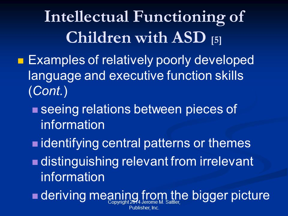 Intellectual Functioning of Children with ASD [5]